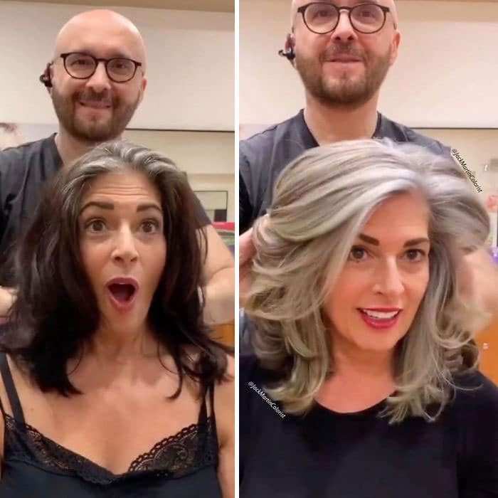 Gray hair makeovers Jack Martin